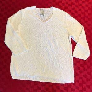 White Stag Textured White Sweater - XL (16/18)
